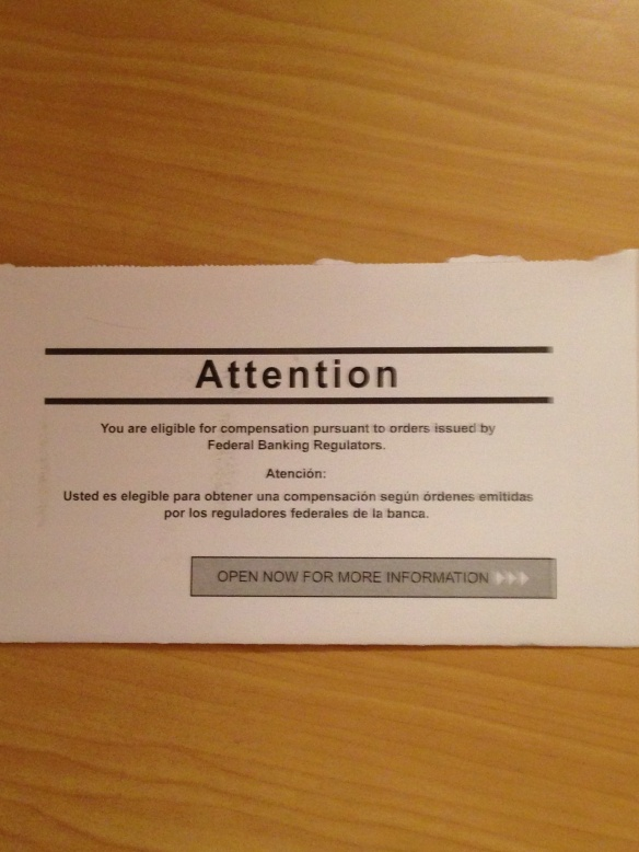 Independent Foreclosure Review Postcard